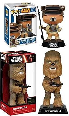 Funko POP! Star Wars: Boushh Leia + Wacky Wobbler Chewbacca – Stylized Vinyl Bobble-Head Figure Set NEW
