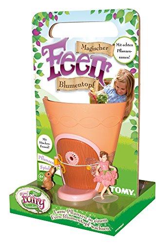 TOMY My Fairy Garden Magischer Feen Blumentopf - kreatives Spielzeug für Kinder ab 4 Jahre - Blumen selber pflanzen & die Natur spielerisch entdecken - inkl. Samen