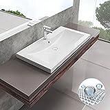 Korpusbad® Aufsatzwaschbecken D07-900 mit NANO-Oberflächenversiegelung | Maße: BTH: 900x480x142...