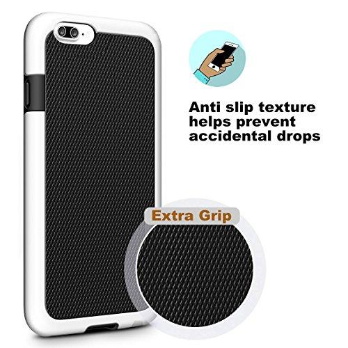 iPhone 8 Plus Hülle, iPhone 7 Plus Hülle, Pasonomi [Outdoor] [stoßdämpfend] Silikon Tasche Schutzhülle Case Cover für Apple iPhone 8 Plus & iPhone 7 Plus 5.5 zoll (Schwarz) Schwarz
