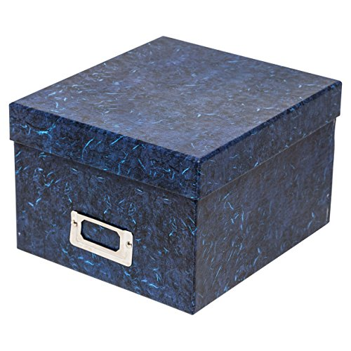 The Photo Album Company - ALBOX57BLUE - Robuste Geschenkbox zum Aufbewahren von Fotos, 13x 18cm, dunkelblau marmoriert