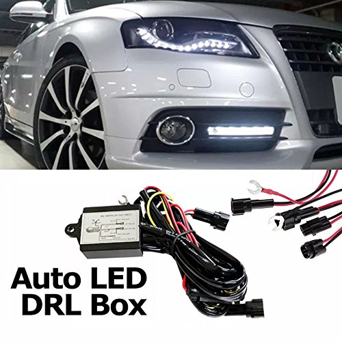 Preisvergleich Produktbild TFL DRL Tagfahrlicht Modul,  Automatisches Steuermodul,  50% Dimmbar Steuergerät für LED Tagfahrlicht,  Relais / Abstufung / ON OFF / Blinker / Coming Home