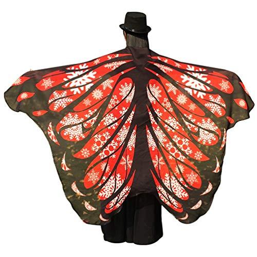 Tanz Kostüm Schneeflocken - Kairunn Damen Erwachsene Schmetterlingsflügel Schals Nymph Pixie Poncho Karneval Schmetterling Kostüm Faschingkostüme Schneeflocke 197 * 125cm
