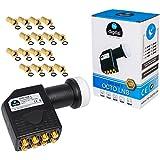 LNB LNC Full HD TV 3D + contacts or + Set Protection (extensible) dans HB Météo numérique avec fiche F Plaqué or gratuites