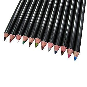 Contever® Set de 12 colores a Prueba de Agua Lápices de Ojos / Sombra de Ojos Maquillaje Durar Todo el día