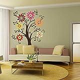 battoo Árbol Natural estilo vinilo adhesivo decorativo para pared de pared para niños habitación sala de estar dormitorio decoración