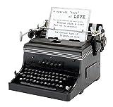 Vintage Replica Ben Desiderano sposa 1945 Mini Macchina da scrivere per tessere per gli ospiti - Nero