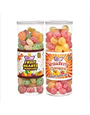 JUSTONE Fruit Hearts and Strawberry Pineapple Candy, 460 g
