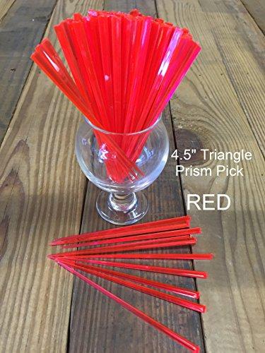 Plektrum Plektron Picks, 100Stück, Farben sortiert 11,4cm Triangle Prism-Cocktail, Party, Lebensmittel Plektrum rot Cocktails, Hors Doeuvres