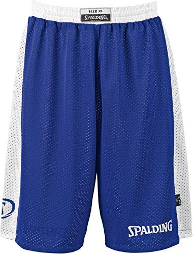 Spalding Essential Reversible Short de Juego, Hombre, Azul RoyalBlanco, L