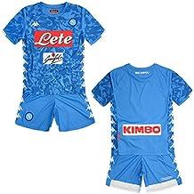 SSC Napoli kit Equipación de juego local junior azul cielo fantasía, ...