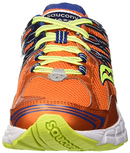 Saucony Jazz 18, Scarpe da Corsa Uomo Multicolore (Orange/Blue/Citron)