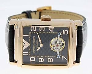 Emporio Armani Herren-Armbanduhr XL Analog Automatik Leder AR4227