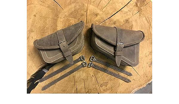 Orletanos Muscle Brown Set Satteltaschen Kompatibel Mit Bikertaschen Tasche Hd Komplettset Taschen Harley Davidson Vrod V Rod Schwingentasche Braun Matt Tasche Auto