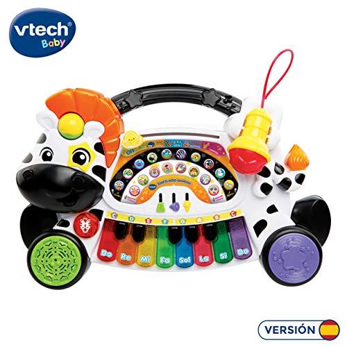 VTech- Remi la Cebra marchosa Piano aprende música Notas e Instrumentos con Teclado Interactivo, Diferentes Funciones y Actividades Musicales (3480-179122)