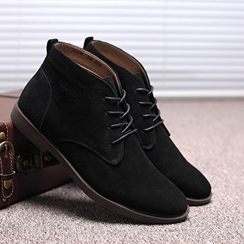HL-PYL-Martin botas, cálida y Anti Cachemir Botas de hombres,38,negro
