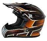 Protectwear Casco moto Croce, casco Enduro, arancione nero FS603, taglia 2XL