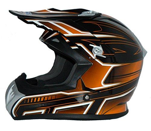 Protectwear Casco de cross / Enduro naranja-negro FS603-OR...