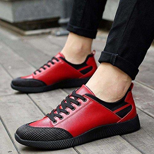 ZXCV Scarpe all'aperto Le scarpe da ginnastica delle tendenze sportive tendono a scivolare le scarpe da uomo all'aperto Rosso