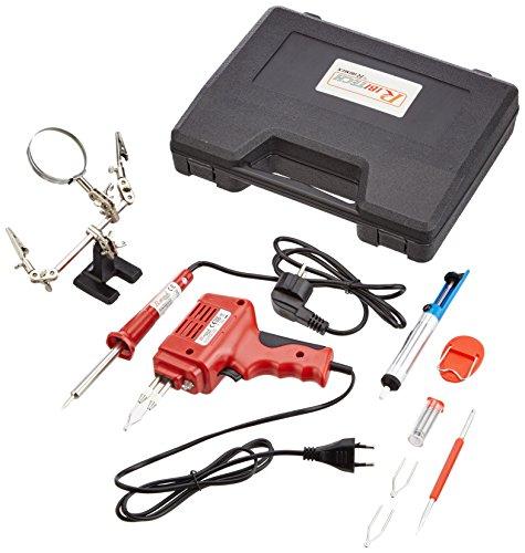 Kit ribimex en estuche rígido, con pistola de soldadura y accesorios de soldadura