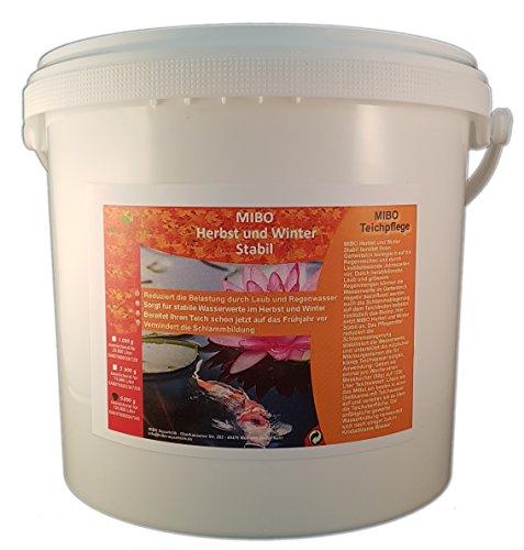 MIBO Herbst und Winter Stabil 5kg Gartenteichpflege Wasseraufbereiter Schlammregulierer