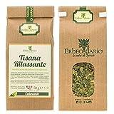 Tisana Relax Rilassante Erbecedario, Per Ansia, Stress, Nervosismo, Tachicardia, Insonnia, 1 Sacchetto 50g