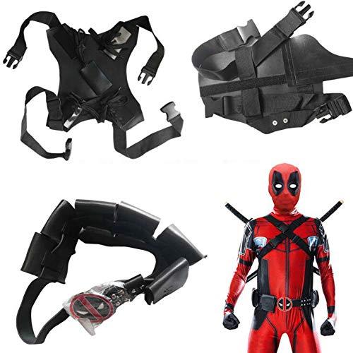 Superhelden Kostüme Erwachsene Herren Deadpool Kostiim Kinder, Herren Kostüm Halloween Costume Anzug Hero Cosplay Erwachsene,Red-S
