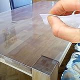 ANRO Tischdecke Tischfolie Schutzfolie Tischschutz Folie 2mm transparent 60cm Breit Länge wählbar