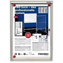 Franken X-tra Line FSA1 - Vitrina expositora (capacidad de 1 x A4, puertas dobles, 28 x 37 x 3,5 cm), color blanco