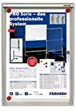Franken FSA1 Flachschaukasten 1 x DIN A4, Metalloberfläche 37 x 28 x 3 cm