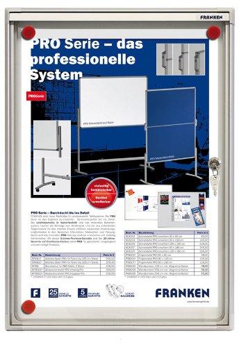 Preisvergleich Produktbild Franken FSA1 Flachschaukasten 1 x DIN A4, Metalloberfläche 37 x 28 x 3 cm