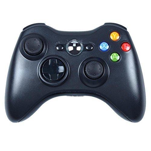 PowerLead Controller del pad di gioco a distanza nuovo Wireless per PC Windows di Microsoft Xbox 360 7 XP Pentecoste Joypad-Nero