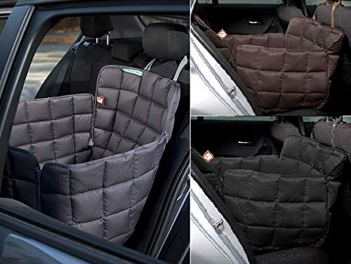 Doctor Bark 1-Sitz-Autoschondecke für die Rückbank - All-Side Schutz - Komfort-Schutz 1 Sitz auf der Rückbank - passend für alle PKWs und SUVs in DREI Größen und DREI Farben