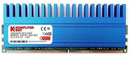 Komputerbay 2GB DDR2 DIMM (240 pin) 800MHZ PC2-6400 PC2-6300 2 GB with Crown Serie Heatspreader für zusätzliche Kühlung CL 5-5-5-18 -