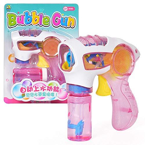 Bubble Gunner drücken Inertia Bubble Gun leichte Hand-Bubble Machine Eltern-Kind-Interaktion mit Licht @ 2 ()