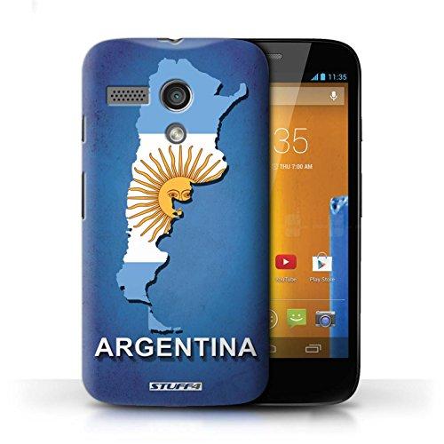 Kobalt® Imprimé Etui / Coque pour Motorola MOTO G (2013) / Italie/Italien conception / Série Drapeau Pays Argentine