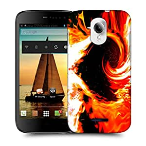 Snoogg Heart Of Fire Designer Protective Back Case Cover For MICROMAX A117