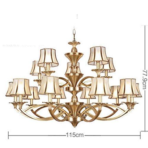 i salotto lampada stile lampadari/ lampade di ottone Lampadario stile/Camera