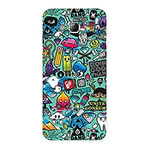 Special Premier candy Multicolor Back Case Cover for Galaxy A8