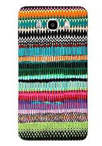 Blue Throat Colored Pattern Hard Plastic Printed Back Cover/Case For Samsung Galaxy J7 2016