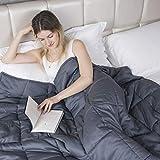GIGALUMI Weighted Blanket Gewichtsdecke für Erwachsene 150 x 200 cm Schweredecke Grau 7kg...