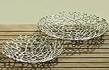 Deko-Schale Fidan silber Aluminium (32cm rund)