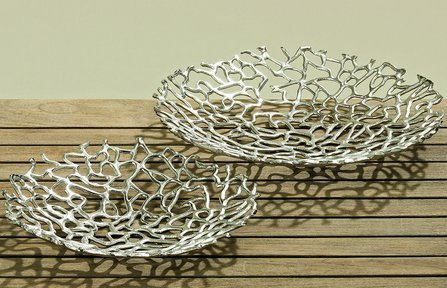 Deko-Schale Fidan silber Aluminium (40cm rund)