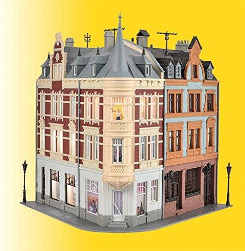 Kibri H0 KI Stadthaus mit Figur und Bel. BS
