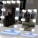 Yingm Bagno Faro a Specchio AaLED Specchio luci Ricaricabile USB 5V Dimmable o Trucco Bagno Tabella di Preparazione Faro Specchio per Il Trucco (Colore : Bianca, Size : 5X4.3CM)