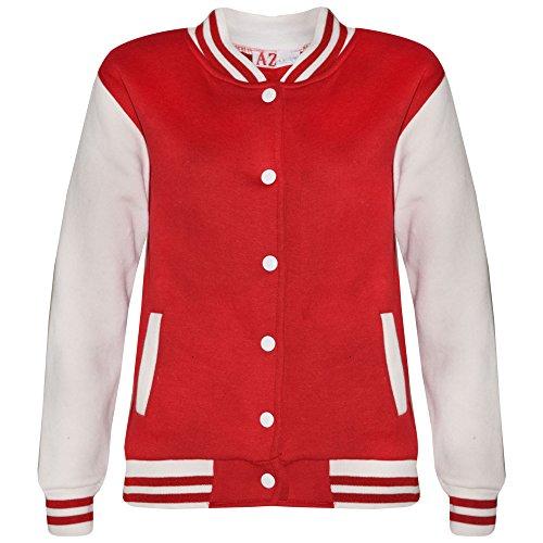 Freundlich Schule Kostüm - A2Z 4 Kids® Kinder Mädchen Jungen BASEBALL JACKE VARSITY Stil Mode Einfach SCHULE JACKEN TOP Alter 5-13 Jahre