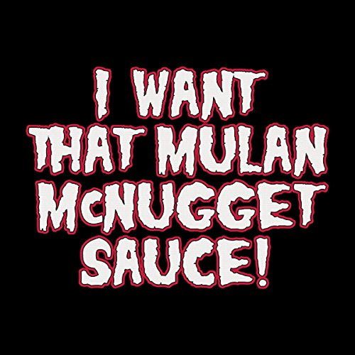 Rick And Morty I Want That Mulan McNugget Sauce Women's Hooded Sweatshirt Black