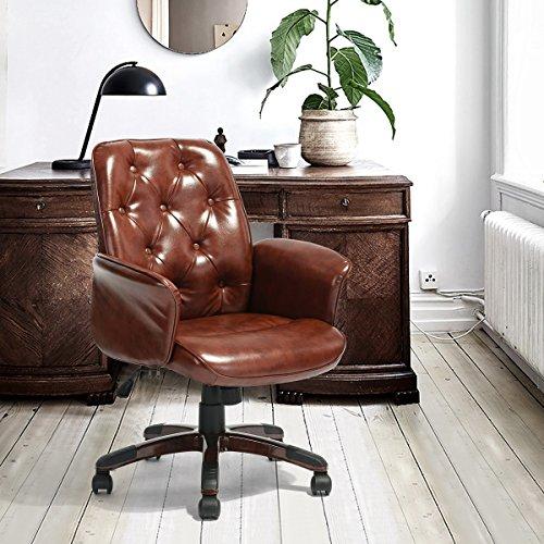 PU Leder Stuhl ihouse Home Office Möbel Schreibtisch Stuhl, Computer-Schreibtisch Sitz Sessel braun
