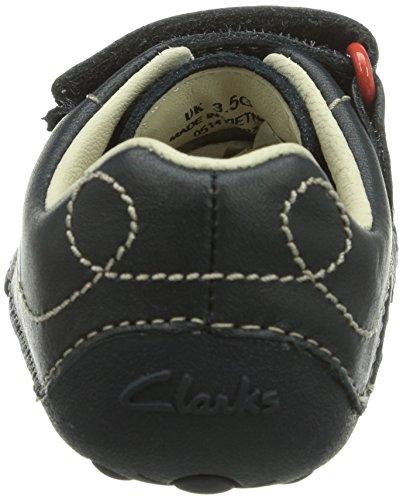 Clarks Tiny Jet Baby Jungen Lauflernschuhe Blau (Navy Leather)