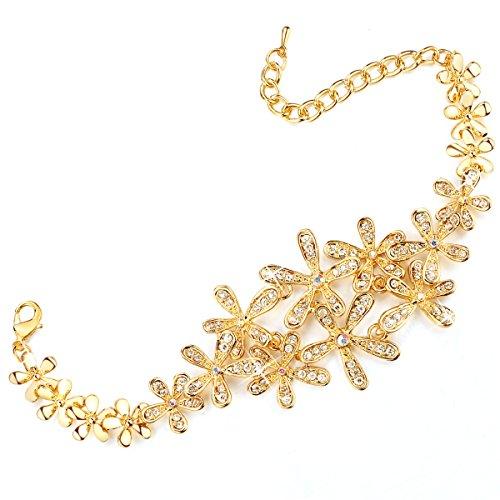 rolicia-cristallo-ceco-bianco-5-fiore-foglia-piatto-doro-17-5-centimetri-collegamento-braccialetto-b